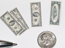 10pc miniature dollhouse Barbie Ken play Money coin Lot DOUBLE side 10x$10 Bills