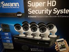 Swann 4 MP 8 camera Super HD security system CCTV NEW Free extended warranty