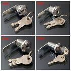 16/20/25/30mm Cam Lock Cabinet Door Mailbox Post Drawer Cupboard Locker 2 Keys