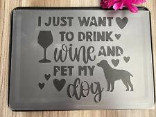 IRISH SETTER Dog Stencil 350 micron Mylar not Hobby stuff #DOGS071