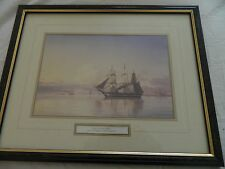 "Vintage framed print of sailing boats  -""In Calm Waters"" by C.E. Baagoe"