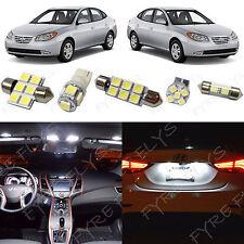 8x White LED light interior package kit for 2007-2010 Hyundai Elantra YE2W