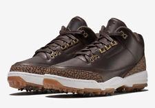 Nike MEN'S JORDAN 3 RETRO Golf Premium Brown SIZE 11.5 BRAND NEW SOLD OUT