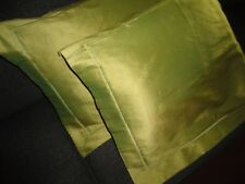 archipelago iridescent green silk pair standard pillow shams 20 x 26 new