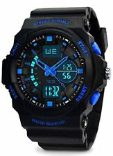 Kids Digital Analogue Watches - Boys 5 ATM Waterproof Sports Watch with Dual Tim