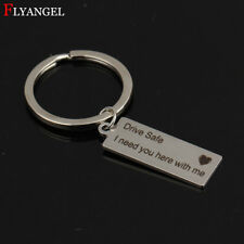 Stainless Steel Drive Safe I need you here with me Heart Lettering Charm Custom
