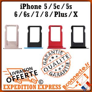 TIROIR PLATEAU CARTE SIM IPHONE 5 / 5C / 5S / SE / 6 / 6S / 7 / 8 / X /PLUS