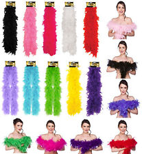 5ft Feather Boa 1920s Flapper Show Girl Fancy Dress Hen Night Party Burlesque