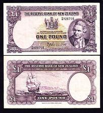 New Zealand NZ 1 Pound Fine Note Hanna 1940-55 P. 159a