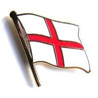 ENGLAND BADGE CROSS OF ST GEORGE FLAG - Flag, Patriotic, Pin, Enamel Lapel Badge