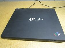 IBM Thinkpad T42 Laptop PC NO HDD Intel Pentium M With No Battery Cracked Screen
