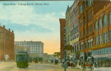 Akron OH The Home Furniture Co., 5 & 10 & Buchtel's on Main Street looking South