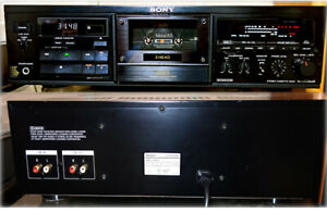Rare [Sony TC-K555ESX] ES Series Stereo Three Head Cassette Deck From JAPAN USED