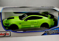MAISTO 1:18 Scale - 2020 Mustang Shelby GT500 - DIECAST Model GREEN New Boxes Uk