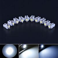 10Pcs Car White T5 B8.5D Gauge 5050 1Smd Led Speedo Dashboard Side Light Bulb FE