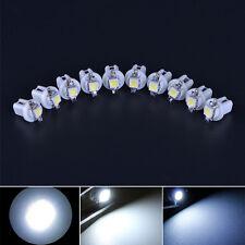 10pcs Car White T5 B8.5D Gauge 5050 1SMD LED Speedo Dashboard Side Light Bulb FT
