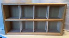 Vtg Napa Valley Box 96 Cd Compact Disc Crate Storage Rack Wood Wall Mount Shelf