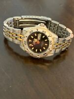 Invicta Womens Divers Style Model # 8221~Black Dial~Day/Date~Two Toned~Working