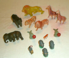 Vintage Figurines Lot 14 Celluloid Plastic Zoo and Circus Animals