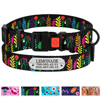 Nylon Dog Collar Adjustable Pet Collars Personalized Small Medium Extra Large