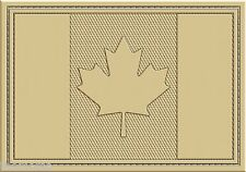 CANADA CANADIAN TACTICAL TAN DESERT FLAG PATCH 3X2 PVC  WITH HOOK LOOP