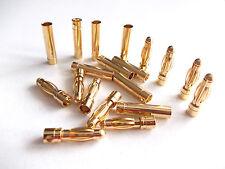 10x Goldstecker 4mm für RC Modellbau und Elektronik