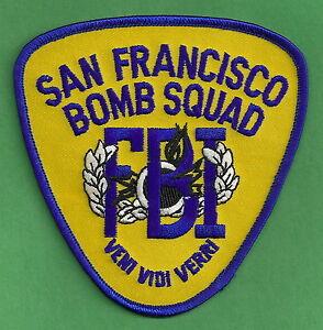 FBI SAN FRANCISCO CALIFORNIA POLICE BOMB SQUAD PATCH