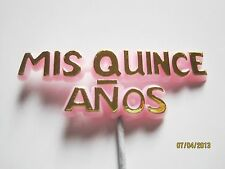 "Floral Picks MIS QUINCE ANOS Quinceaneras 6"" Pk/24 PINK/GOLD!"