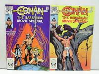 1982 CONAN the BARBARIAN #1 & 2 MOVIE SPECIAL Marvel Comic Book Set of 2-Unread