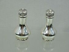 RARE ANTIQUE WHITING LOUIS XV PATTERN STERLING SILVER SALT & PEPPER SHAKERS
