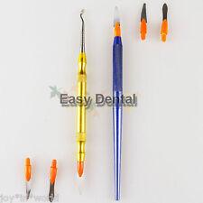 2 sets Denture Ceramic Porcelain Sculpturing Knife Spatula Blade Dental Tool