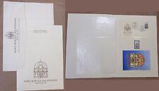LIBRO FILATELICO FDC COMUNE RIMINI SAGRA MUSICALE MALATESTIANA 1990 BUSTA ecc.