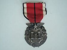 USA AMERICAN MILITARY ENGINEERS SOC. BADGE MEDAL SILVER/NAMED/DATED. RARE! VF+