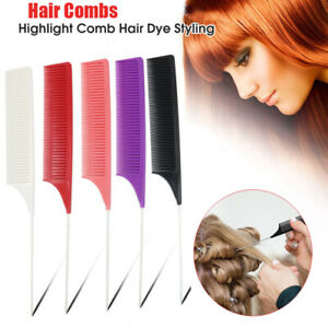 2x Hair Combs Hair Salon Dye Comb Separate Parting For Hair Styling Hairdressing