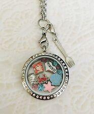 Ariel Little Mermaid inspired Memory Locket Stainless Steel.