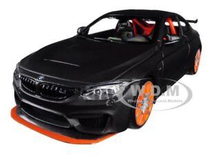 BMW M4 GTS GRAY W/ CARBON TOP & ORANGE WHEELS 1/24 DIECAST CAR BY MAISTO 31246