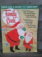 Family Circle Magazine December 1965 Christmas Santa Claus Craft Recipe Vintage