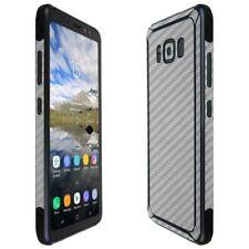 Skinomi Silver Carbon Fiber Skin+Screen Protector For Samsung Galaxy S8 Active