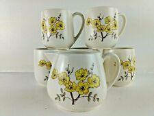 More details for 5 carltonware cups & jug  ceramics small set flowers  tea  uk freepost     8