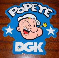 DGK Logo Skate Sticker Popeye Face Dirty Ghetto skateboards helmets decal