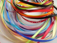 3mm Double Satin Ribbon Assorted Colours 20 x 1Mtr Lengths No Repeats Free P & P