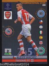2014/15 Adrenalyn Xl Champions League Arsenal Alexis Sanchez International Star