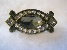 "HEIDI DAUS ""Armed With Charm"" (Black Diam.) Size 10 Ring (Orig.$79.95) LAST ONE!"
