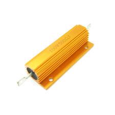 High Power 500 Ohm 500R 100W Watt Aluminum Shell Case Wirewound Golden Resistor