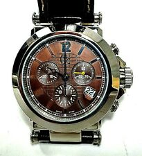 GUESS Watch Gc Men's Stainless Steel Value Brown Leather