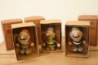 Young Epoch Wooden doll SEVEN DWARFS DOC DOPEY HAPPY RETRO TOY COLLECTION 8cm JP