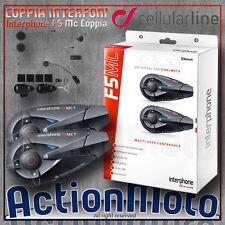 Cellular line - Interphone F5 MC Twin Kit intercom moto - Bluetooth 3.0