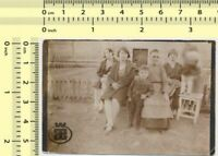 114 Family Gramophone Moving Kid Motion Abstract Surreal Error vintage old photo