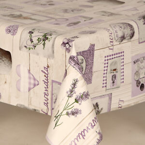 Lavender Lilac purple Buttons Hearts Gingham Check Pvc Vinyl Table Cloth