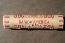 1970 S Lincoln Cent Original Bank Wrap Roll Rare Small Date Inside Obw Unc Penny